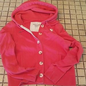 Abercrombie Button Down Thermal Hoodie Medium